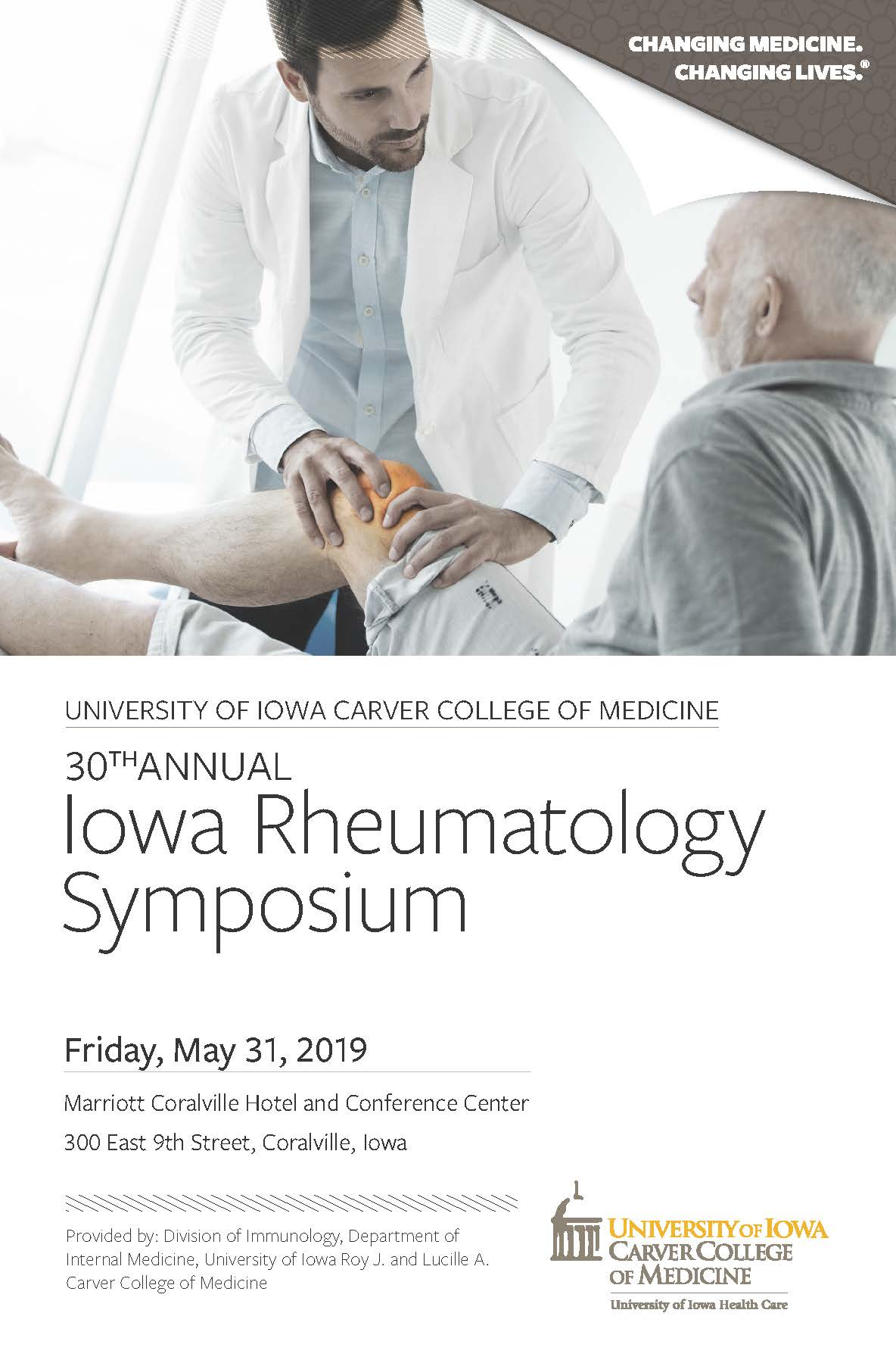 Iowa Rheumatology Symposium 2019 Banner