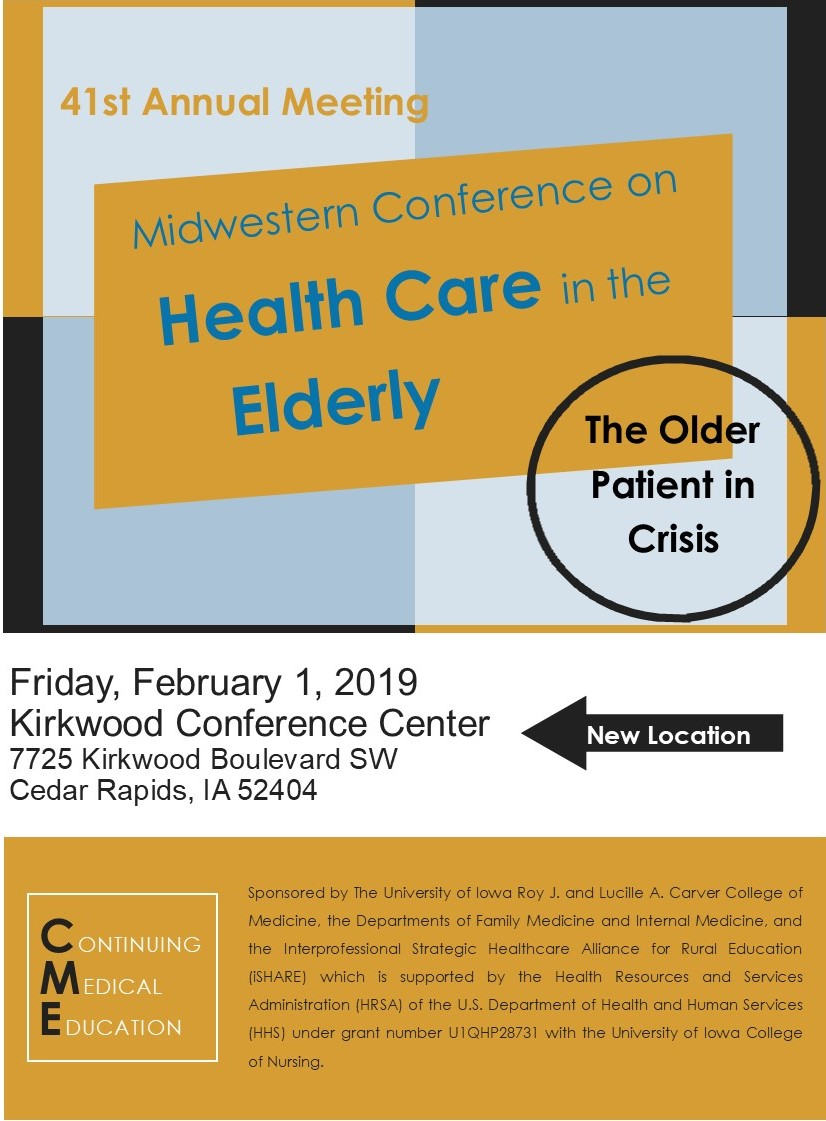 41st Annual Midwestern Conference on Health Care in the Elderly Banner