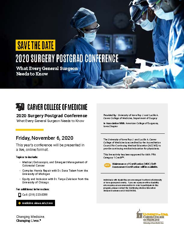 Surgery Postgraduate Conference 2020 Banner