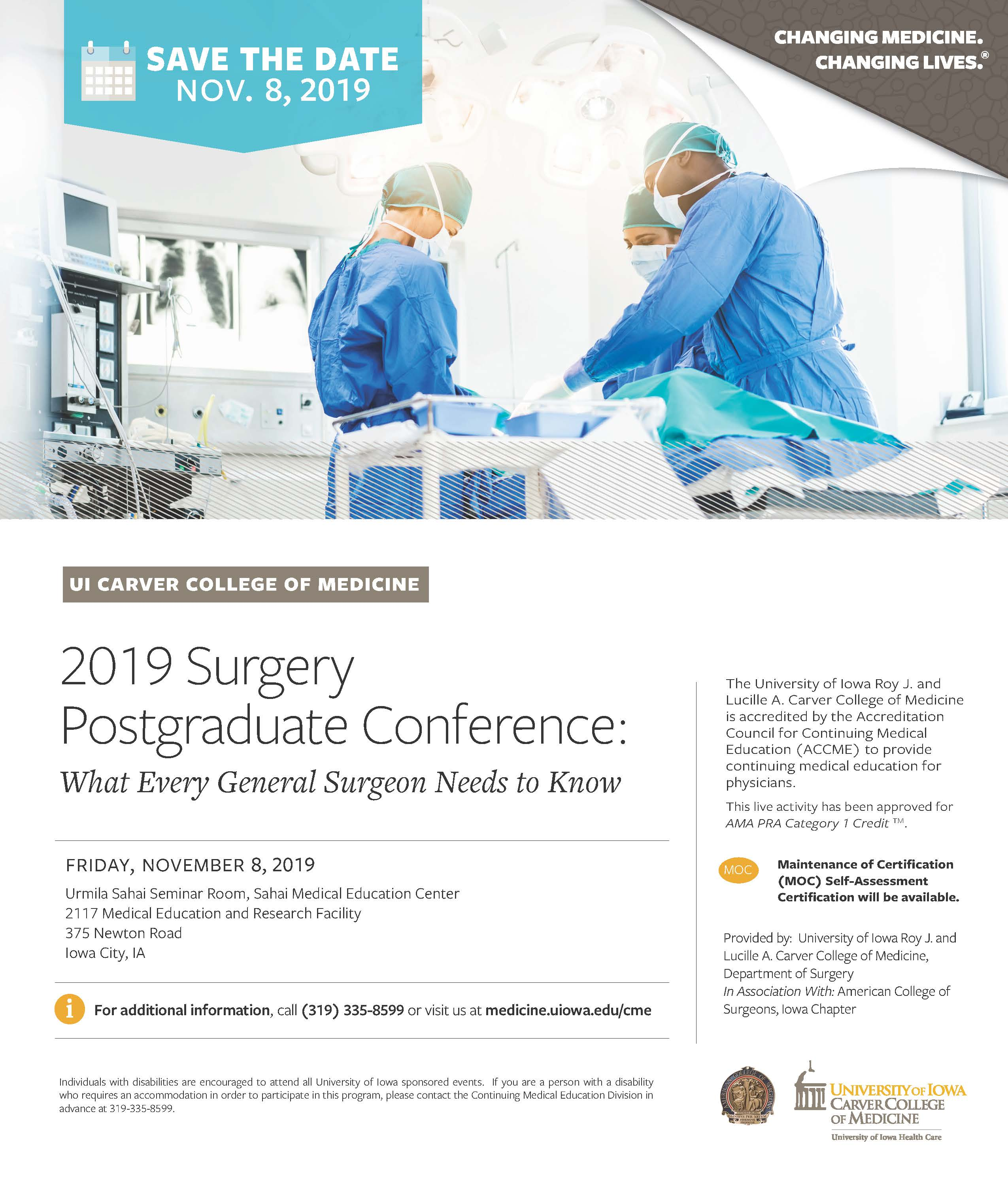 Surgery Postgraduate Conference 2019 Banner