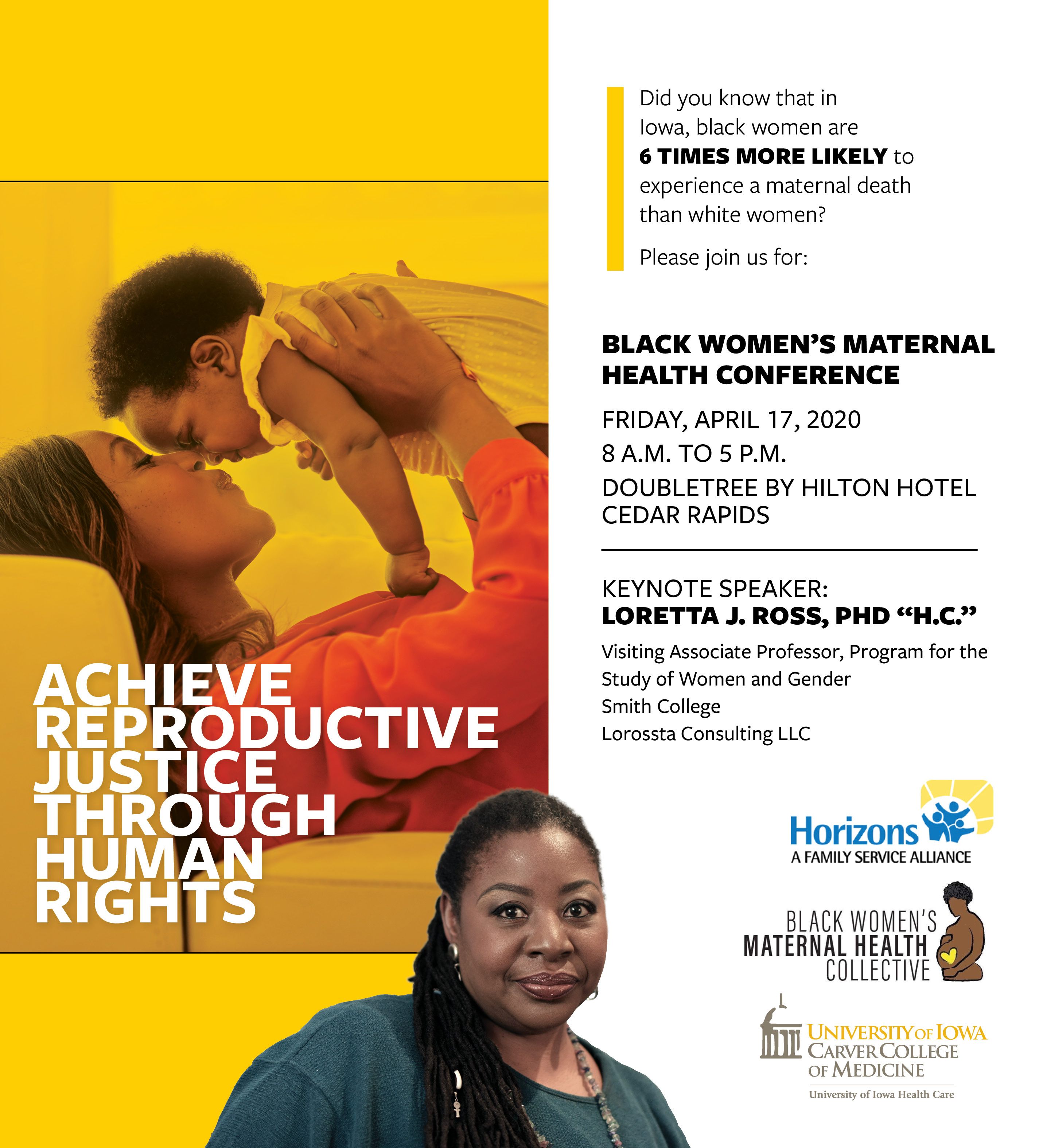 Black Women's Maternal Health Conference Banner