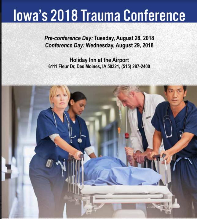 Iowa's 2018 Trauma Conference Banner